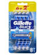 Gillette Blue3 Cool Pánská holítka 6+2ks