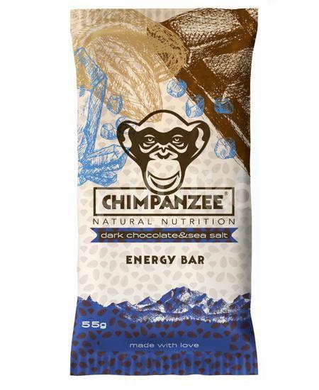 Chimpanzee Energy bar Tmavá čokoláda/Mořská sůl 55g