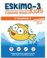 Eskimo-3 Kids Omega 3 s vitaminem D žvýkací tablety 27ks