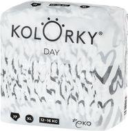 Kolorky DAY - srdce - XL (12-16 kg) jednorázové eko plenky 17ks
