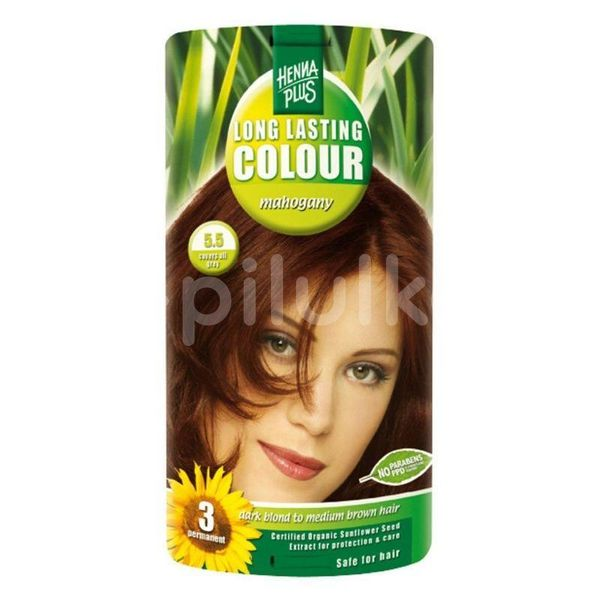 HennaPlus Přírodní barva na vlasy dlouhotrvající mahagon 5.5 100ml