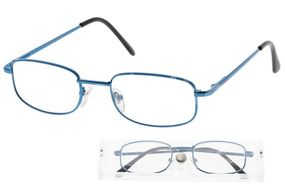 American Way Čtecí brýle modré v etui +2.50