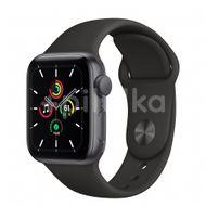 Apple Watch SE GPS, 40mm Space Gray Aluminium Case, Black Sport Band, Regular 1ks