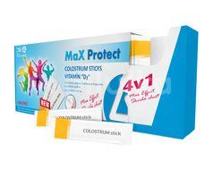 MaX Protect COLOSTRUM Sticks + VITAMÍN D3 Prášek v sáčcích 30ks