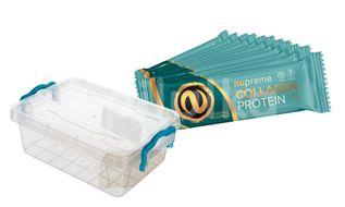 NUPREME Proteinová tyčinka s kolagenem v plastové dóze kokos/karamel 12x50g