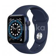 Apple Watch S6 GPS, 40mm Blue Aluminium Case, Deep Navy Sport Band, Regular 1ks