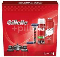 Gillette Dárková sada Mach3 Turbo holicí strojek + 1 holicí hlavice + pěna na holení + sprchový gel