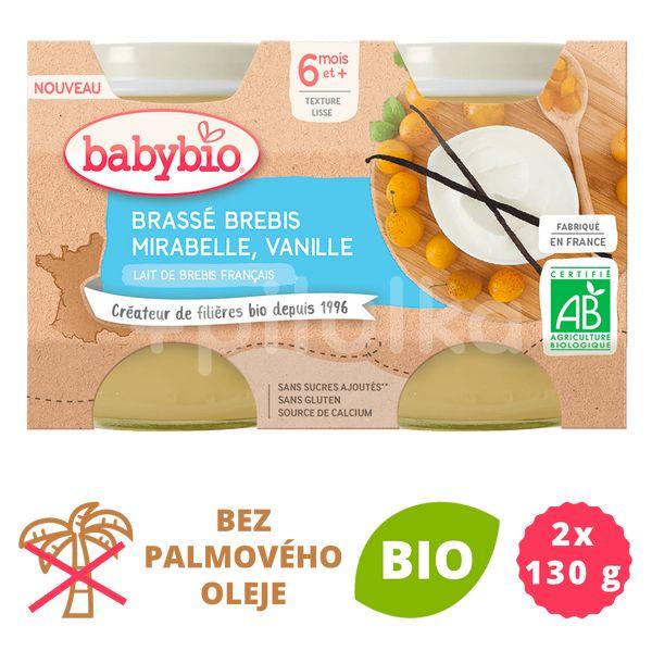 Babybio Brassé z ovčího mléka mirabelky vanilka 2x130g