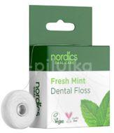 Nordics Dentální nit Fresh Mint z kukuřičného škrobu 50m