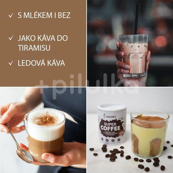 Blendea SUPERCOFFEE BIO Směs kávy s funkčními houbami, skořicí a kořenem čekanky 100g