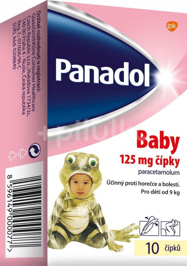 Panadol Baby 125 mg čípky 10ks