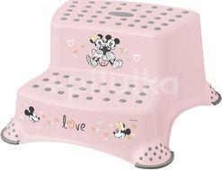 Keeper Dvojstupínek k WC/umyvadlu Minnie růžová