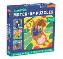 Mudpuppy Match-Up Puzzle - Mláďata z džungle