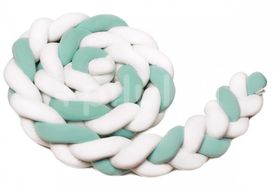 Pletený mantinel 180 cm, white + mint