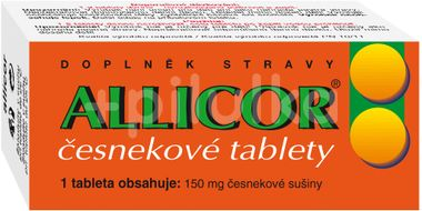 Allicor česnek 60 tablet