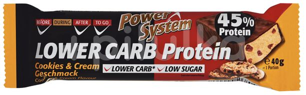 LOWER CARB Cookies&Cream Bar with 45% Protein 40g