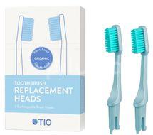 TIO Náhradní hlavice k zubnímu kartáčku ultra soft ledovcově modrá 2ks