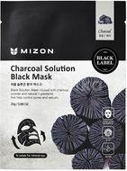 Mizon Charcoal Black Mask, čisticí maska s dřevěným uhlím 25g