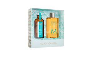 Moroccanoil Dárkový balíček s vlasovým olejem a sprchovým gelem