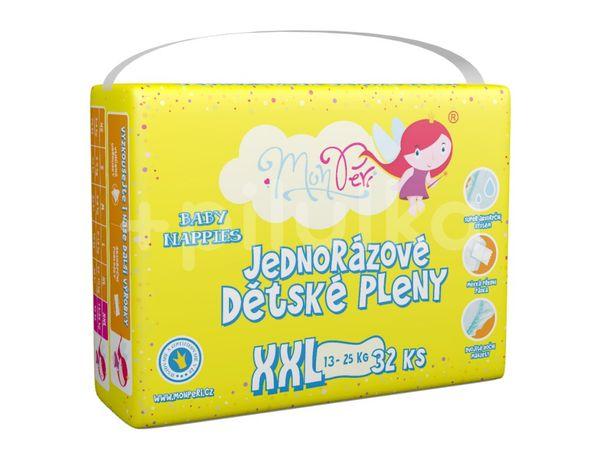MonPeri Klasik XXL 13-25kg Eko Jednorázové dětské pleny 32ks