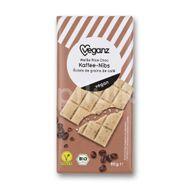 Veganz bílá čokoláda s kávovými zrnky Bio 80g