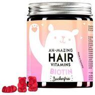 Bears With Benefits Ah-mazing Vitamíny pro zdravé vlasy s biotinem bez cukru 60ks