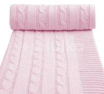 Pletená deka, pink / růžová