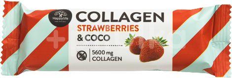 HAPPYLIFE Kolagenová kokosová tyčinka - jahoda 40g