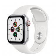 Apple Watch SE GPS + Cellular, 40mm Silver Aluminium Case, White Sport Band, Regular 1ks