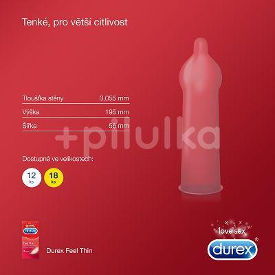 Prezervativ DUREX Feel Thin 18 ks