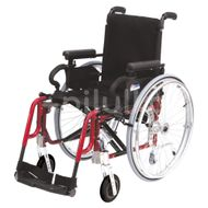 DMA Basic light plus Invalidní vozík šířka sedu 39 cm červený