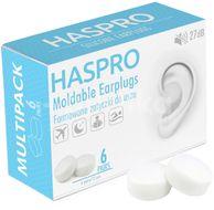 Haspro Mold6 silikonové špunty do uší, bílé 6 párů