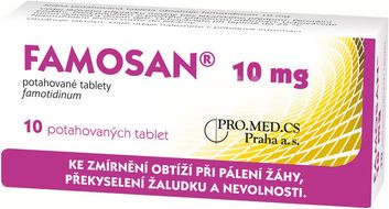Famosan 10mg 10 potahovaných tablet