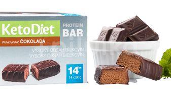KetoDiet Proteinové tyčinky příchuť čokoláda 14ks