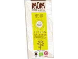 Kaoka Bio hořká čokoláda citrón-zázvor 100g