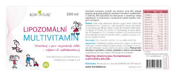 Bornature Lipozomální dětský multivitamín 300ml
