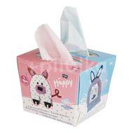 Happy Dětské papírové kapesníky - 80 ks DUO Mix