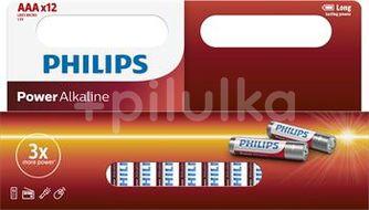 Philips Alkalické baterie LR03P12W/10 12ks