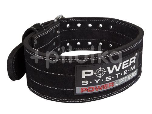 Power System opasek na posilování POWERLIFTING BLACK vel.M