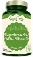 GreenFood Nutrition Hořčík a Zinek Cheláty+ Vitamin D3 90kapslí