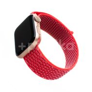 FIXED Nylonový řemínek Nylon Strap pro Apple Watch 44mm/ Watch 42mm, tmavě růžový 1ks