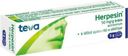 Herpesin 5% dermální krém 5g
