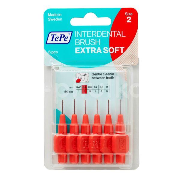 TePe Mezizubní kartáček Extra Soft pastelově červený 0,5mm 6ks