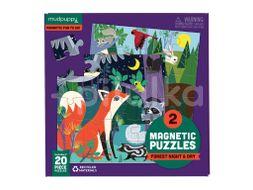 Mudpuppy Magnetické puzzle, Les 2x20ks