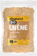 Allnature Lněné semínko BIO zlaté  200g