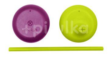 b.box Univerzální silikonová víčka fialové/zelené
