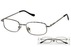 American Way Čtecí brýle šedé v etui +2.00