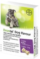 Drontal Dog Flavour 150/144/50mg 2 tablety