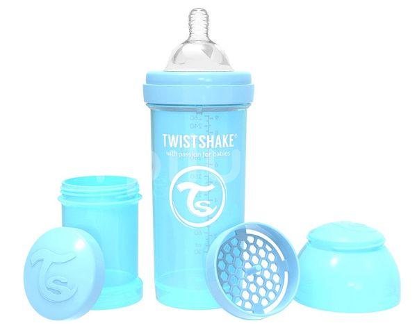 Twistshake Kojenecká láhev Anti-Colic Pastelově modrá (dudl.M) 260ml