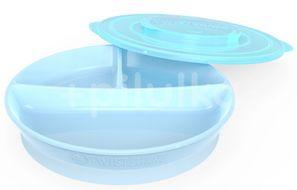 Twistshake dělený talíř 6+m pastelově modrý